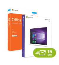 Windows 10 Pro + Office 2016 Home & Business - elektronická licence