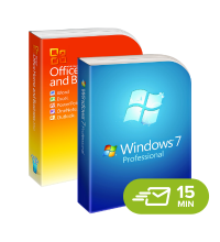 Windows 7 Professional + Office 2010 Home & Business - elektronická licence