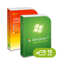 Windows 7 Home Premium + Office 2010 Home & Student - elektronická licence