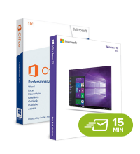 Windows 10 Pro + Office 2013 Professional - elektronická licence