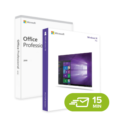 Windows 10 Pro + Office 2019 Professional - elektronická licence